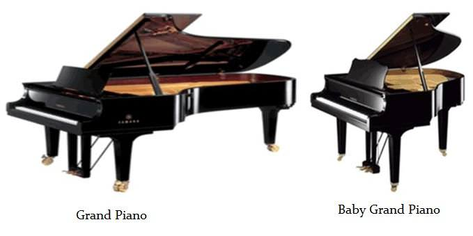Difference Between Grand Piano and Baby Grand Piano